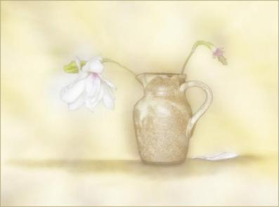 P Comm_Sue Champion_Brown Jug with Magnolia