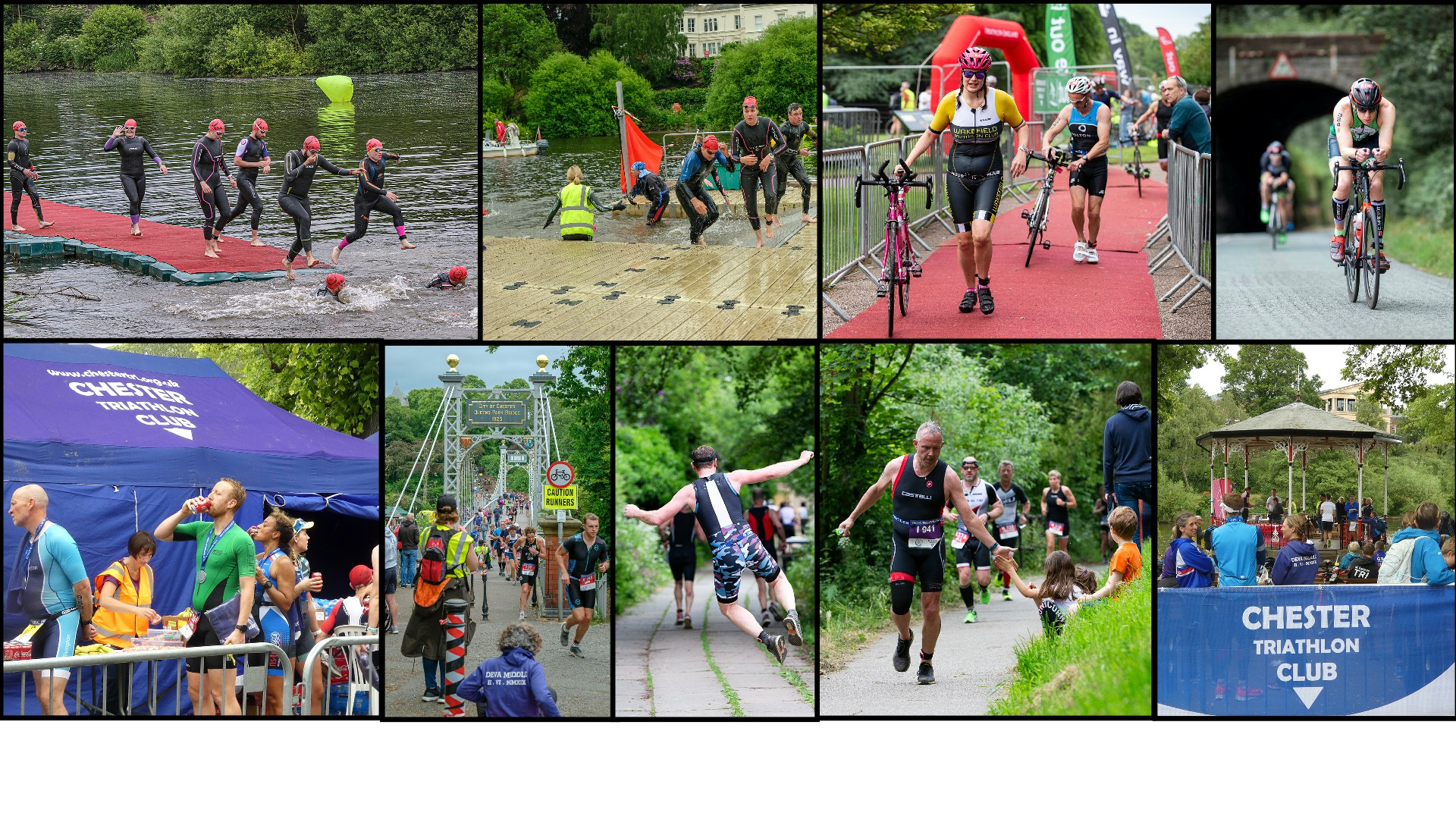 Chester Triathlon 2019 collage